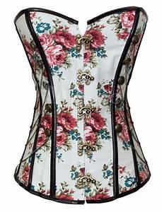 corset multicolore imprime fleuri avec passepoil milanoocom With affiche chambre bébé avec legging fleuri femme
