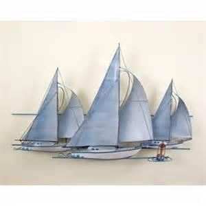 Sailboat Wall Decor Metal by Fleet Of Sailing Ships Nautical Metal Wall Art