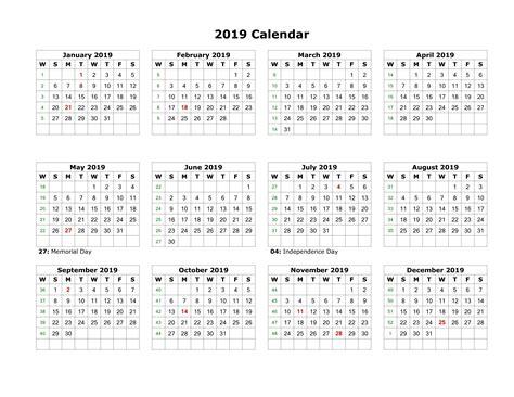Malaysia 2019 Calendar Template Pdf, Excel, Word Template