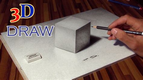 3d illusion table ls drawing of a cube in 3d optical illusion anamorphic