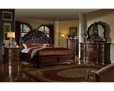 traditional bedroom set  sleigh bed mcfbset