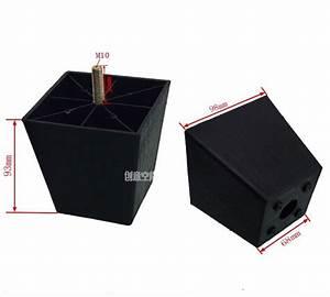 Sofa Füße Erhöhen : h 93mm m10 schwarz kunststoff quadratische erh hen fu sofa tisch schrank beine f e ~ Orissabook.com Haus und Dekorationen