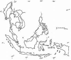 Blank Map Southeast Asia