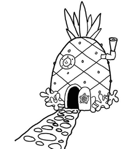 halaman mewarnai spongebob untuk anak