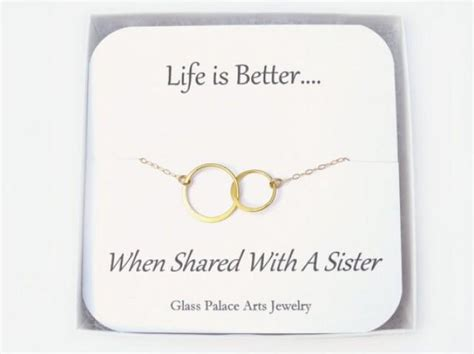 Infinity Jewelry- Sister In Law Gift -circle Necklace -sister Gift Necklace Walmart Pregnancy Gifts Newborn Practical Camping Amazon Handy Little Announcement Refinery29 Hostess A Gift