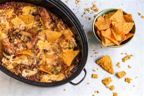 I usually double this recipe. Crock Pot Ro-Tel Dip Recipe With Ground Beef and Cheese