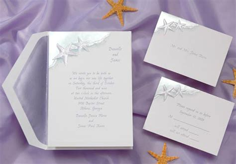 wedding invitations 1 wedding invitations response sets starfish