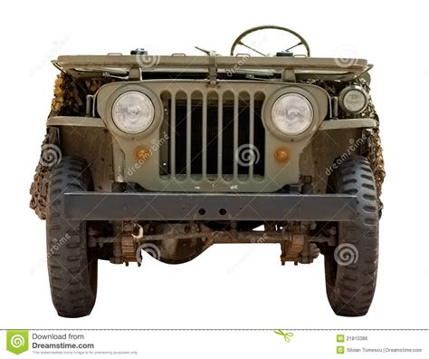 old military jeep truck old car military jeep from 1966 isolated on white stock