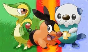 gen 5 starter pokemon names images