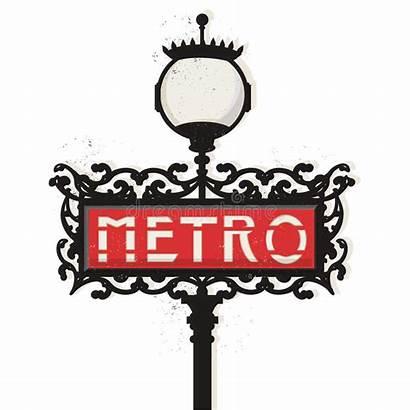 Metro Paris Clipart Parijs Parigi Segno Teken