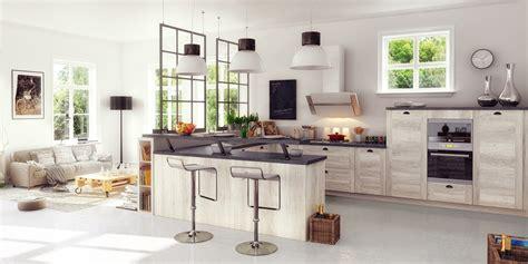 image de cuisine ouverte une cuisine équipée ouverte sur le salon