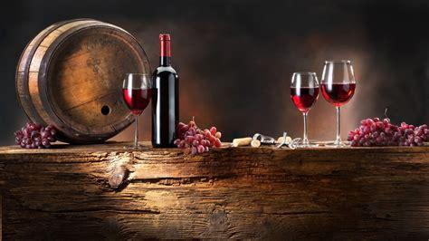 Download 1920x1080 Hd Wallpaper Bunch Grapes Wine Barrel