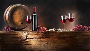 Full HD Wallpaper bunch grapes wine barrel bottle wine ...