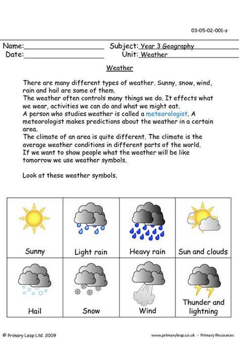 primaryleap co uk weather worksheet primary worksheets
