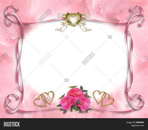 wedding invitation border pink image photo bigstock