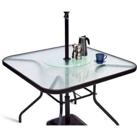 lazy susan for umbrella table mainstays patio lazy susan for patio table umbrella new ebay