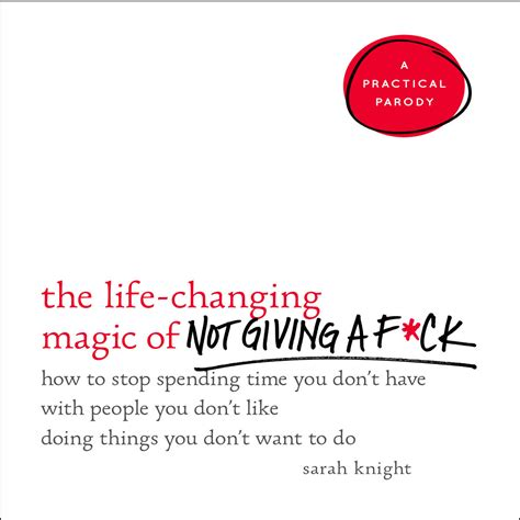 the changing magic of not giving a f ck