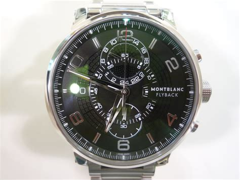 105077 montblanc timewalker twinfly montblanc timewalker flyback twinfly chronograph sold on