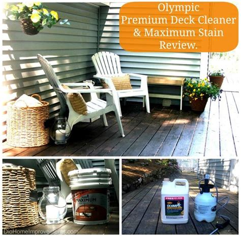 Olympic Deck Cleaner by Olympic Maximum Stain Deck Before After Stains