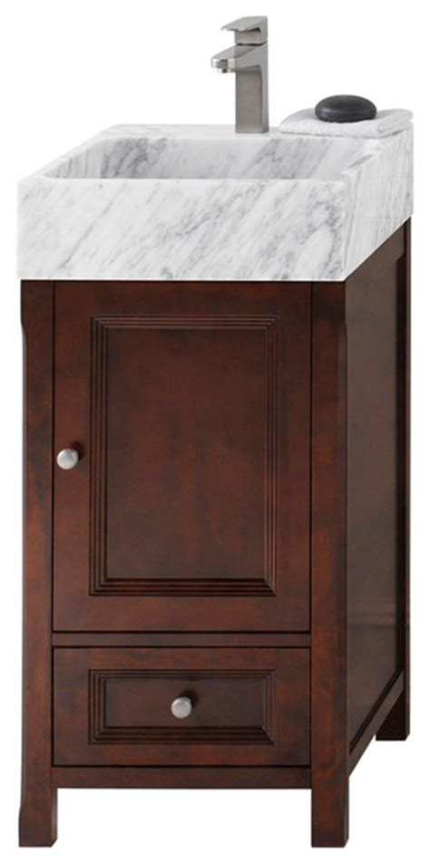 drawers kitchen sink ronbow juliet 18 quot bathroom vanity set with ceramic vessel 6960
