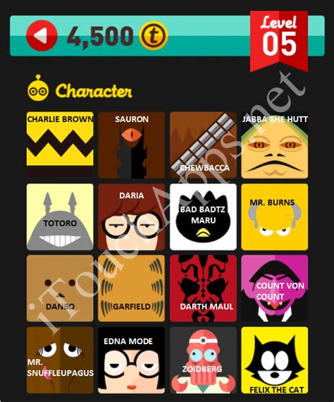 robot  icon pop quiz level  characters part