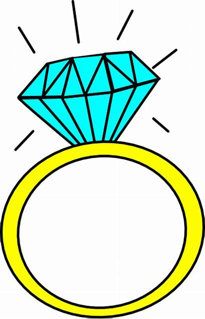 Ring Diamond Clip Clipart Clker Cartoon Rings