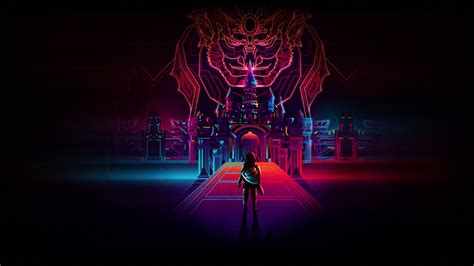 wallpaper  legend  zelda retro neon art creative