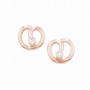 designer rose gold diamond spiral stud earrings london With diamond letter stud earrings