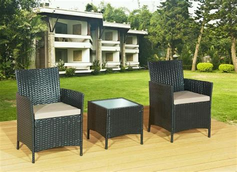Rattan Patio Furniture by 3 Rattan Garden Furniture Outdoor Patio Set Chairs