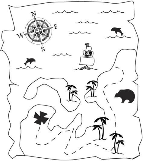 Kleurplaat Piraten Schatkaart by N Kleurplaat Piraten Schatkaart