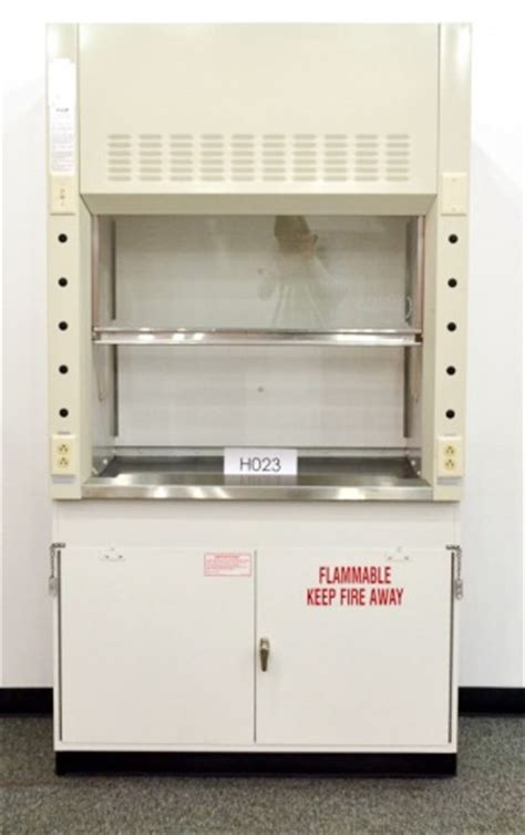 fume hood base cabinet 4 39 new mott fume hood with new flammable base cabinet and