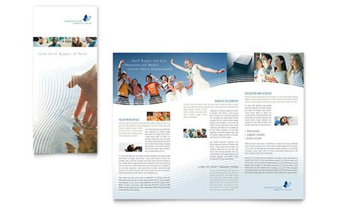 christian ministry brochure template design