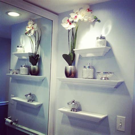 bathroom wall shelving idea  adorn  room