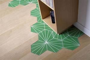 Carreaux De Ciment Hexagonaux : carreaux de ciment ils d limitent les espaces c t maison ~ Melissatoandfro.com Idées de Décoration