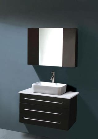 modern single sink bathroom vanity espresso wall