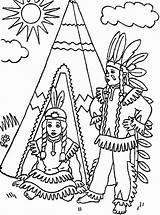Native Coloring American Pages Teepee Front Boy Americans Nations Thanksgiving Printable Boys Children Drawing Adults Print Chumash Template Popular Colors sketch template