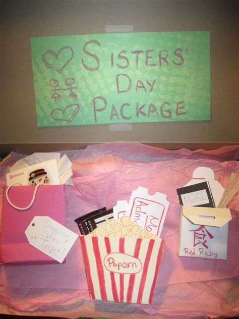 christmas gifts sister quot day package quot as a present for my gift card for