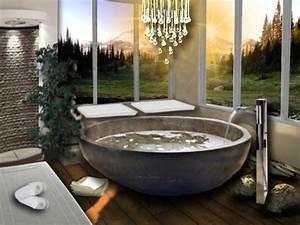 salle de bain ouverte sur l39exterieur floriane lemarie With salle de bain design avec béton décoratif extérieur