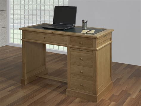 bureau en chene bureau 5 tiroirs en chêne de style louis philippe meuble