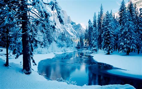 Winter Scenes Backgrounds Wallpapersafari