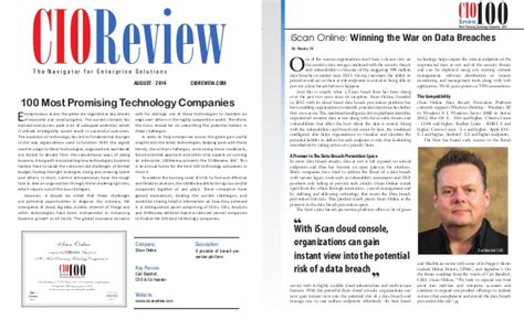 Cio Review Top 100 Most Promising 2014