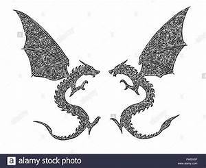 Drachen Schwarz Weiß : tattoo drachen stockfotos tattoo drachen bilder alamy ~ Orissabook.com Haus und Dekorationen