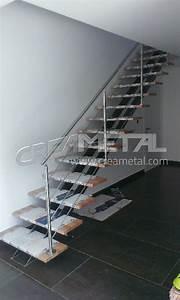 Garde Corp Escalier : etude et fabrication escalier droit avec limon central et ~ Dallasstarsshop.com Idées de Décoration
