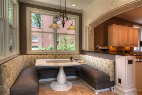kitchen booth seating oversize kitchens how to include comfortable dining space