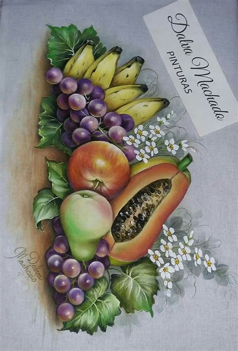 dibujos de frutas ideas  pinterest