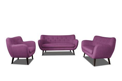 canape 3 place design canapé 3 places design en tissu prune axelle canapé en
