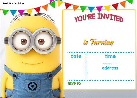 minions invitation template free printable minion birthday invitations ideas template free invitation templates drevio