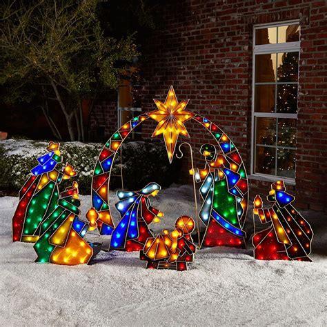 outdoor christmas decoration nativity set yard decor holiday season manger scene what s it worth