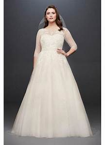 tulle plus size wedding dress with illusion bodice With plus size tulle wedding dress