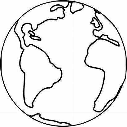 Earth Coloring Globe Pages Map Easy Printable